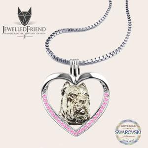 Cane Corso ezüst medál Swarovski kővel díszítve nyaklánccal díszdobozban (jewelledfriend) - Meska.hu
