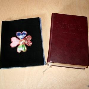 Biblia borító fekete - otthon & lakás - papír írószer - Meska.hu
