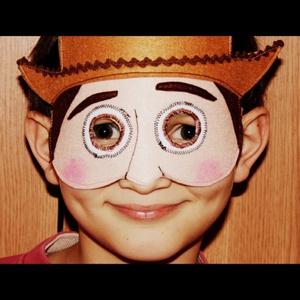 Toy story Woody álarc filcből, Ruha & Divat, Jelmez & Álarc, Álarc, Varrás, Toy story Woody álarc két réteg filcből varrtam.\nA szabásmintát is magam készítettem hozzá.\n\n\n\nKérés..., Meska