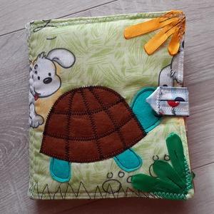 Teknősös, állatos puha könyv     textil könyv    babakönyv          a baba első könyve  - Meska.hu