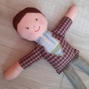 Úriember :)  fiú baba textilbaba rongybaba, Játék & Gyerek, Baba & babaház, Baba, Patchwork, foltvarrás, Varrás, Meska