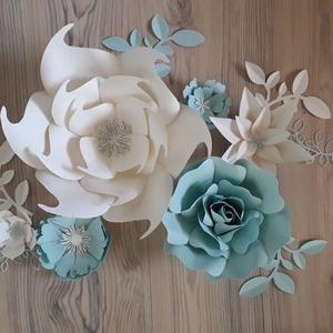 Papírvirág dekoráció, Otthon & Lakás, Dekoráció, Papírművészet, Meska