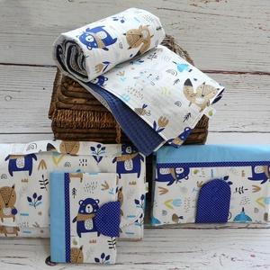 Óriás babaváró/babalátogató csomag - Állatkák a réten, Gyerek & játék, Baba-mama kellék, Varrás, Babalátogatóba mész, de nincs ötleted, mit vinnél ajándékba? Ebben segít neked ez a hatalmas csomag ..., Meska