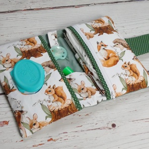 Kompakt pelenkatartó táska - Erdei állatok (joeymano) - Meska.hu