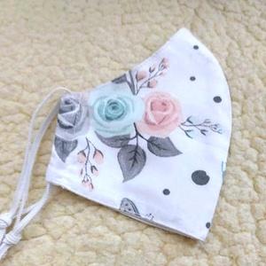 Rózsa-pillangó mntás Textil mosható szájmaszk, arc maszk ( felnőtt ), Ruha & Divat, Maszk, Arcmaszk, Varrás, 100% pamutvászonból készült két rétegű textil felnőtt méretű száj-\nmaszk.\n10 DB VAGY AZ FÖLÖTTI DB S..., Meska