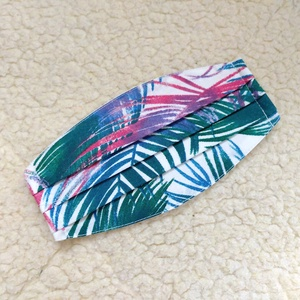 Levél mintás redőzött Textil mosható szájmaszk, arc maszk ( felnőtt ), Ruha & Divat, Maszk, Arcmaszk, Varrás, 100% pamutvászonból készült két rétegű textil felnőtt méretű száj-\nmaszk.\n10 DB VAGY AZ FÖLÖTTI DB S..., Meska