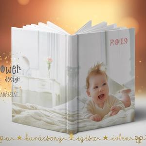Határidőnapló/agenda egyedi borítóval - saját fotóval, felirattal - A/5 méretű heti vagy napi beosztású (joyflowerdesign) - Meska.hu