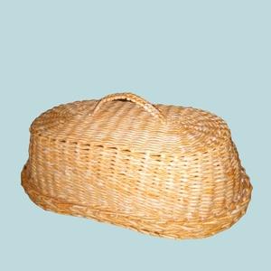 Ovális fedeles kenyér tartó, Otthon & Lakás, Konyhafelszerelés, Kenyértartó, Fonás (csuhé, gyékény, stb.), Tárold egészségesen a kenyered, meg a péksüteményedet egy fedeles tartóban, mely egy bútordarabnak i..., Meska