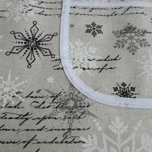 Női kötény + két fülfogó (karácsonyi levél) (Juaniita) - Meska.hu