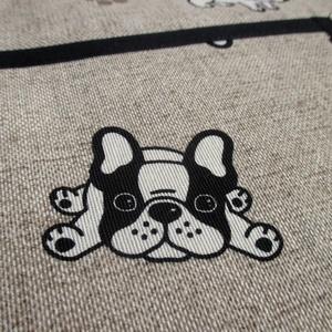 Női kötény + 2 fülfogó (francia bulldog) (Juaniita) - Meska.hu