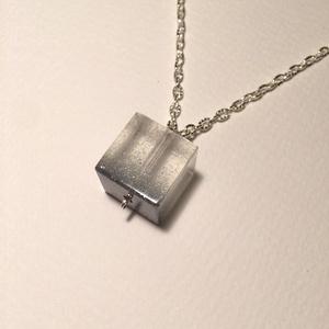 Ezüstös kocka  (Jcreative) - Meska.hu