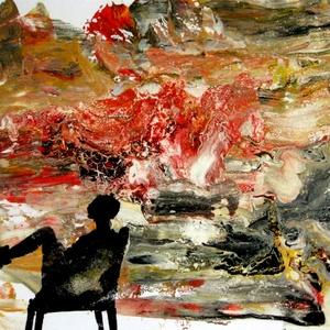 """Akril kép, Művészet, Festmény, Akril, Festészet, \"""" Tűz van, babám ... ! \""""   ( :\n\nFényes felületű A / 4 - es méretű akril festmény .\nLelakkoztam, hogy..., Meska"""