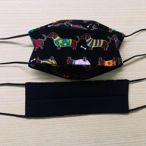 Textil arcmaszk - tacskók, Táska, Divat & Szépség, Szépség(ápolás), Maszk, szájmaszk, Kétrétegű, fix gumival ellátott arcmaszk amely 100%-ban pamut alapanyagból készült Természetesen OEK..., Meska