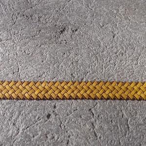 Mustársárga és bronz parkettás karkötő (judika88) - Meska.hu