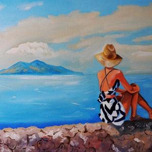 Távolban, Művészet, Festmény, Olajfestmény, Festészet, Fotó, grafika, rajz, illusztráció, Meska