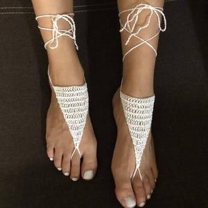Beach sandals minimál , Ékszer, Lábdísz és Testékszer, Lábgyűrű és Lábdísz, Horgolás, Meska