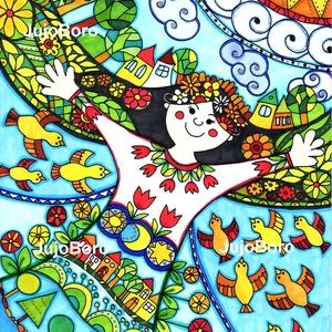 Én, és  a világ, Gyerek & játék, Dekoráció, Otthon & lakás, Ünnepi dekoráció, Karácsonyi, adventi apróságok, Képzőművészet, Festett tárgyak, Fotó, grafika, rajz, illusztráció, Filccel készült ez a rajz rajzkartonra a világról.\n\nMéret: 21 x 30 cm, Meska