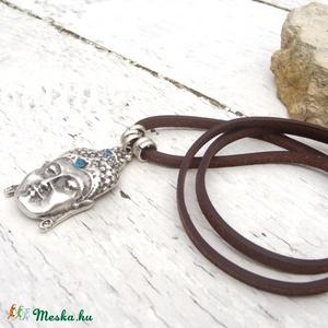 Buddha nyaklánc, Amulett nyaklánc,  Ezoterikus, Spirtuális, Rusztikus bőr nyaklánc (jullyet) - Meska.hu