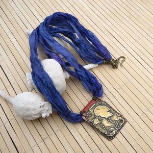 Egzotikus Gésa nyaklánc, Japán stílusú nyaklánc, Szári selyem nyaklánc (jullyet) - Meska.hu