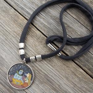 Női Rajastani nyaklánc, Indiai nyaklánc, Radha Krishna nyaklánc, Női amulett nyaklánc (jullyet) - Meska.hu