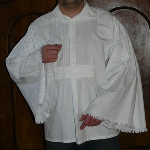 ING népi,csikós bőujjú (borjúszájú) fehér S-3XL, Ing, Férfi ruha, Ruha & Divat, Varrás, S,M,L,XL, XXL,3XL-es méretben bőujjú pamutvászon paraszting, tradícionális szabásminta alapján.\n\n\n3X..., Meska