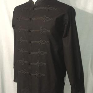 fekete bocskai zsinóros férfi ing \
