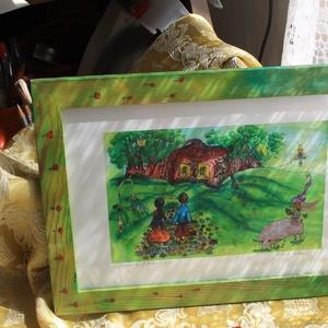 Jancsi és Juliska, Otthon & lakás, Dekoráció, Kép, Festészet, Mindenmás, Aquarell képről készített nyomat. (8/20)\nKreatív papírra nyomtatva.\nMérete:20x30cm. \nKeretezett...., Meska