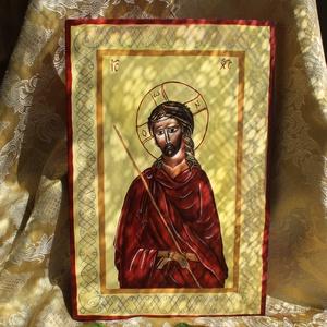 Jézus, a vőlegény, Otthon & lakás, Képzőművészet, Festmény, Festmény vegyes technika, Vegyes technika, Festészet, Fára festett táblakép.\n\nGetszemáni éj,\naz Isten eltékozolta mindenét...\n\n\nMérete:20x30cm.\n\n, Meska