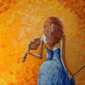 Ősz, Egyéb, Otthon & lakás, Lakberendezés, Festészet, Akrill festmény\n50x70cm \nFa keretre feszített vászon, ezért külön keretezést nem igényel., Meska