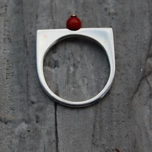 piros biztatás-gyűrű, Ékszer, Gyűrű, Ékszerkészítés, Ötvös, Ó nagyon -nagyon szeretem ha a világháló másik oldaláról külön megkeresés érkezik.\nÍgy lett ez kék a..., Meska