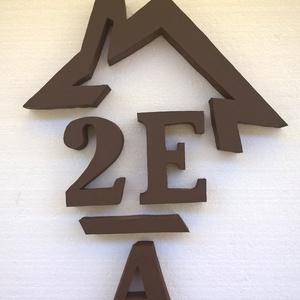 Házikós házszám lakóparkba - több karakter, Egyéb, Lakberendezés, Otthon & lakás, Utcatábla, névtábla, Mindenmás,  Lakóparkban élsz? Esetleg sorházban?\nNehéz lehet megfelelő házszámot találnod.\nVan megoldás: \nEz a ..., Meska