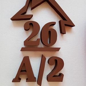 Házikós házszám lakóparkba - több karakter, Házszám, Ház & Kert, Otthon & Lakás, Mindenmás,  Lakóparkban élsz? Esetleg sorházban?\nNehéz lehet megfelelő házszámot találnod.\nVan megoldás: \nEz a ..., Meska