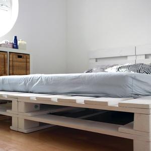 Raklap stílusú ágy, raklapágy, raklap franciaágy, deszka ágy (kalapp) - Meska.hu