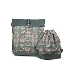 Anya-lánya táskaszett Free Bird hátizsák + gyerek tronazsák  , Táska & Tok, Hátizsák, Roll top hátizsák, Varrás, Szereted, ha csinos vagy és közben a táskád is kényelmes? A Free Bird táskákkal kényelmesen túrázhat..., Meska