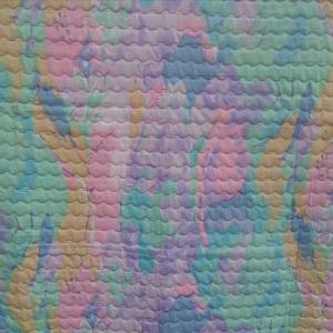 Szivárványos steppelt takaró, Otthon & Lakás, Lakástextil, Takaró, Foltberakás, Varrás, Mérete135x120 cm\nPamut vászon szivárványos mintás steppelt takaró. Közbélés 90 gr vatelin. 40 fokban..., Meska