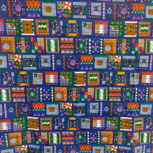 Steppelt színes takaró, Otthon & Lakás, Lakástextil, Takaró, Foltberakás, Varrás, 140x135cm\nPamutvászon gyerektakaró . Három réteg steppelve van , közbélés 90 gr vatelin . 40 fokban ..., Meska