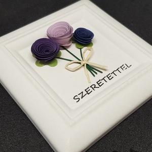 Kerámia illatkő - Szeretettel virágcsokor 2, Otthon & Lakás, Dekoráció, Kavics & Kő, Kerámiaporból készült illatkő, melyet kiváló minőségű tihanyi levendula illóolajjal átitatva adok át..., Meska