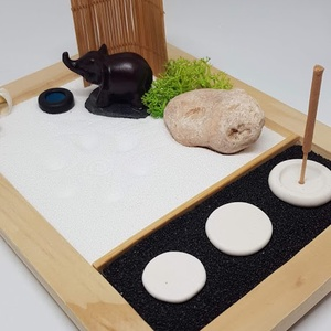 Zen kert - Elefánt itatóval füstölővel, DIY (Csináld magad), Egységcsomag, Famegmunkálás, Mindenmás, Meska
