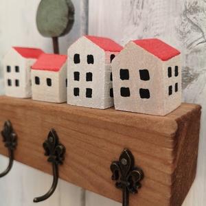 FABRIKA város - fehér házak - otthon & lakás - bútor - kulcstartó szekrény - Meska.hu