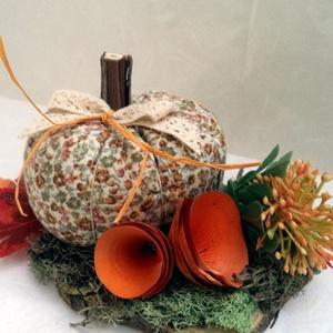 Őszi asztaldísz - natúr színekben - Meska.hu