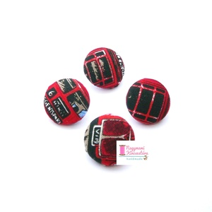 Nagy gomb szett (London), Ruha & Divat, Öv & Övcsat, Egyéb kellék, Mindenmás, Leírása: Behúzott gomb szett. A csomag 4 db különböző mintájú gombot tartalmaz.\n\nSzíne és mintázata:..., Meska