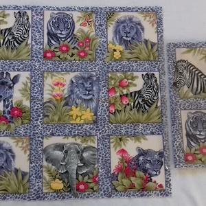 Patchwork anyag (Afrika), Textil, Pamut, Varrás, Mindenmás, Kiváló minőségű angol patchwork szövet. A képen egy kiterített anyag látható, melyen látható a telje..., Meska