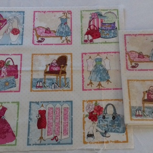 Patchwork anyag (Fashion), Textil, Pamut, Varrás, Mindenmás, Kiváló minőségű angol patchwork szövet. A képen egy kiterített anyag látható, melyen látható a telje..., Meska