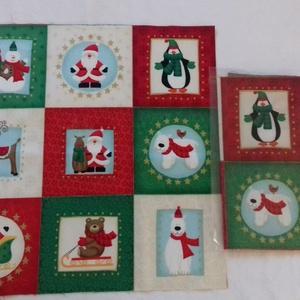 Patchwork anyag (Karácsony 4.), Textil, Pamut, Varrás, Mindenmás, Kiváló minőségű angol patchwork szövet. A képen egy kiterített anyag látható, melyen látható a telje..., Meska