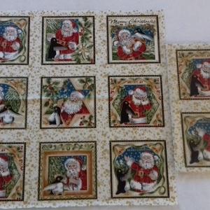 Patchwork anyag (Karácsony 5.), Textil, Pamut, Varrás, Mindenmás, Kiváló minőségű angol patchwork szövet. A képen egy kiterített anyag látható, melyen látható a telje..., Meska