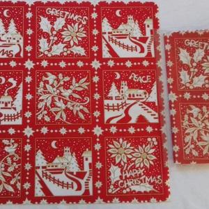 Patchwork anyag (Karácsony 6.), Textil, Pamut, Varrás, Mindenmás, Kiváló minőségű angol patchwork szövet. A képen egy kiterített anyag látható, melyen látható a telje..., Meska