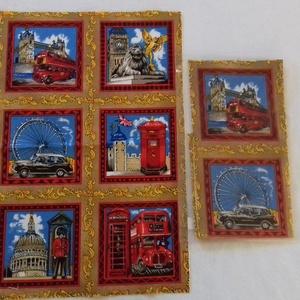 Patchwork anyag (London), Textil, Pamut, Varrás, Mindenmás, Kiváló minőségű angol patchwork szövet. A képen egy kiterített anyag látható, melyen látható a telje..., Meska