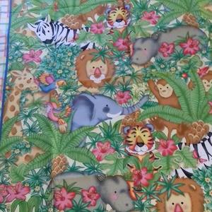 Patchwork panel (Afrika), Textil, Pamut, Varrás, Mindenmás, Kiváló minőségű angol patchwork szövet. Kiváló ágytakarónak, faliszónyegnek, játszószőnyegnek, párná..., Meska