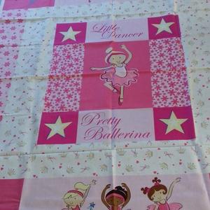 Patchwork panel (Balerina), Textil, Pamut, Varrás, Mindenmás, Kiváló minőségű angol patchwork szövet. Kiváló ágytakarónak, faliszónyegnek, játszószőnyegnek, párná..., Meska