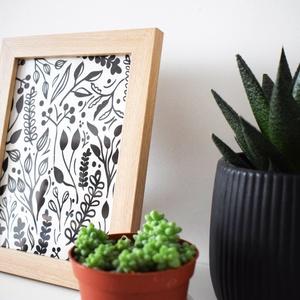 Kanva Natural asztali/falikép // fehér, nagy (Kanva) - Meska.hu